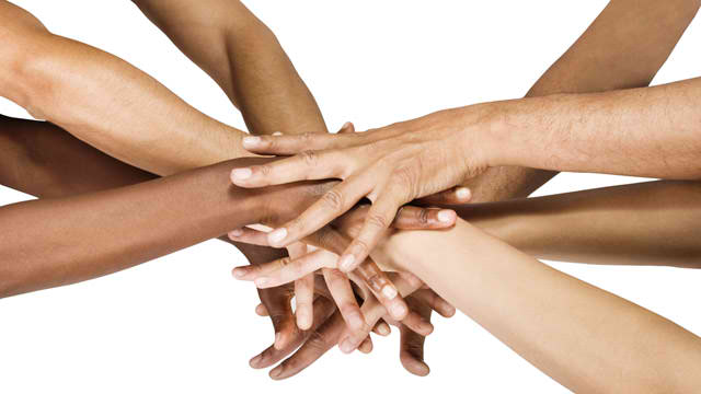 Healing hands of all races and faiths